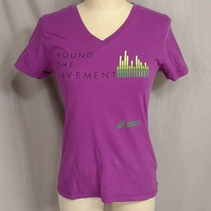 Pound The Pavement Asics Orchid Cotton Tee Shirt T